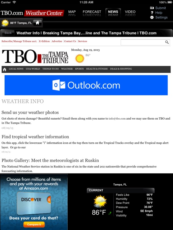Tampa Bay Weather from TBO for iPad screenshot-3
