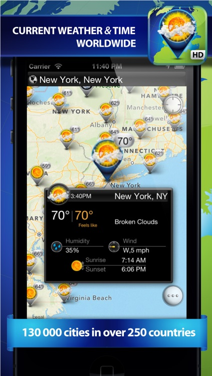 Weather Travel Map