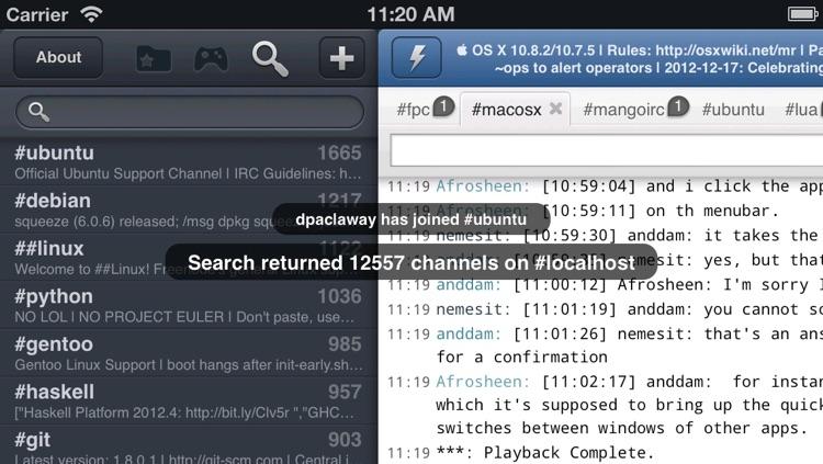 Mango HD Universal - IRC Chat client