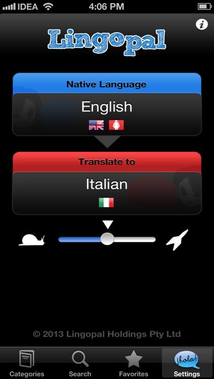 Lingopal Italian LITE - talking phrasebook
