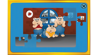 The 3 little pigs - Cards Match Game - Jigsaw Puzzle - Book (Lite) screenshot one