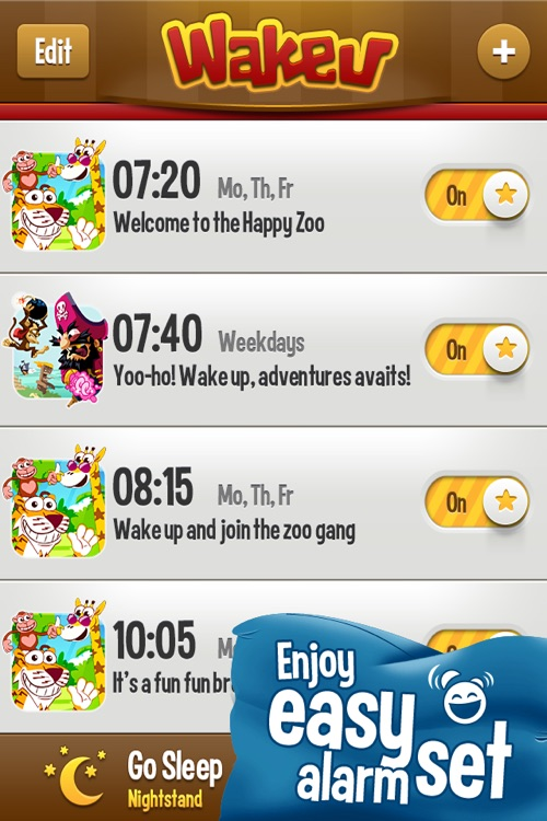 WakeU ZOO - a fun alarm clock screenshot-3