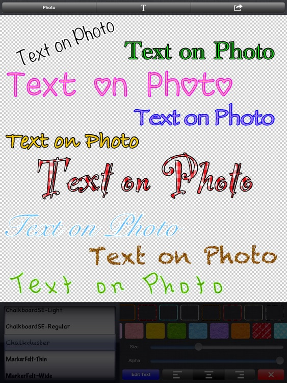 Text on Photo for iPad 〜Label, Caption, Title on Photos〜 screenshot-4