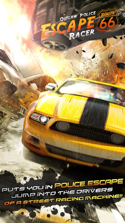 Police Escape Outlaw Racer Free screenshot-0