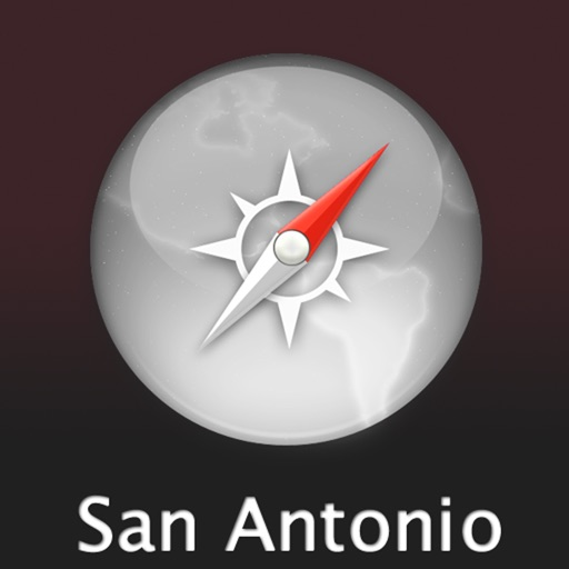 San Antonio Travel Map (USA)