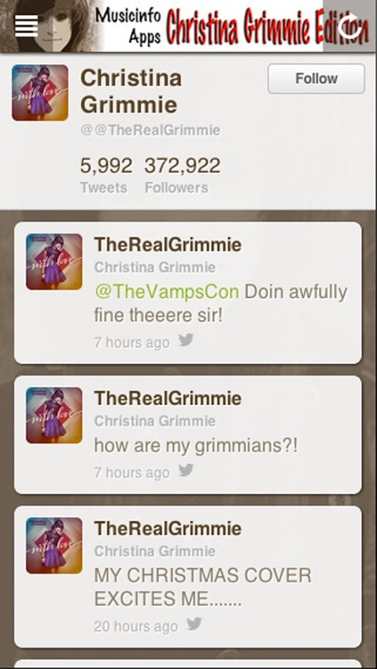 Musicinfo Apps - Christina Grimmie Edition+ screenshot-4