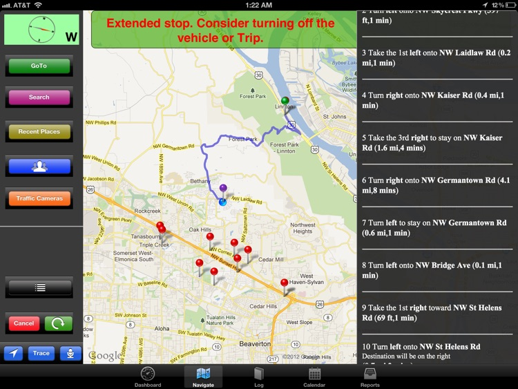 Extra Mile HD - Voice Navigation With GPS Mileage Log screenshot-3