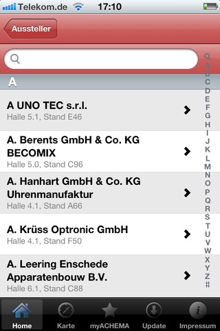 ACHEMA 2012 -  World Exhibition Congress on Chemical Engineering, Environmental Protection and BiotechnologyScreenshot von 5