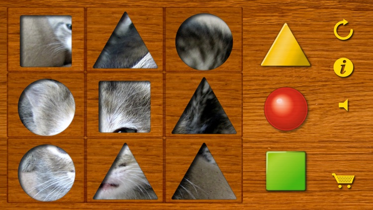 Shapes puzzle for the youngest. Training motor skills of preschoolers using attractive animal pictures or pictures of your own family!