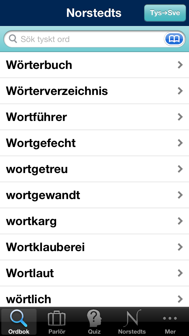 Norstedts stora tyska ordbokのおすすめ画像1