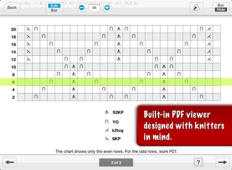 JKnit HD Lite - Knitting Pattern Reader for iPad