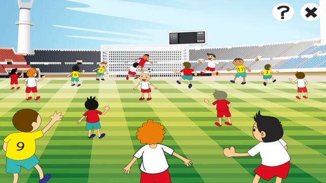Jeu actif pour les enfants d 39 ge 2 5 sur le football jeux et casse t te pour la maternelle - Jeux de football coupe du monde 2014 ...