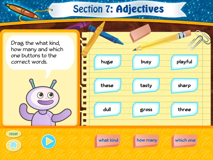 Grammar Fun 2nd Grade HD screenshot-3