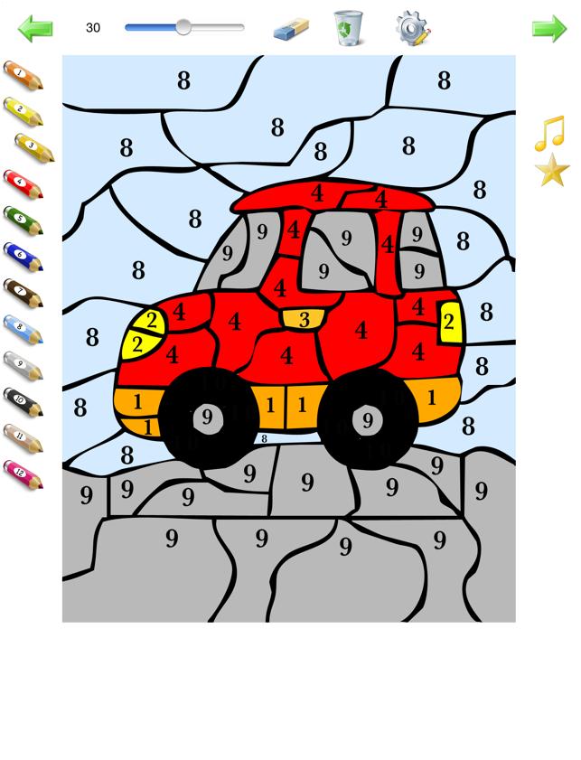 Färben nach Zahlen für Kinder - kostenlos Färbung Seiten nummeriert ...