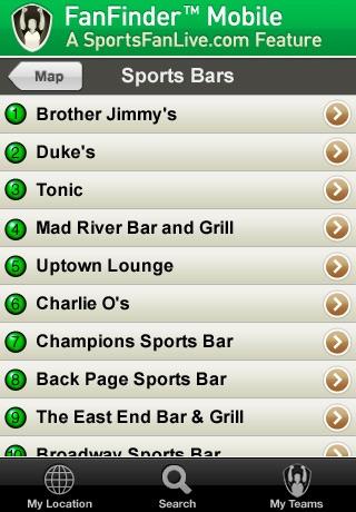 FanFinder - Sports Bar Locator screenshot-4