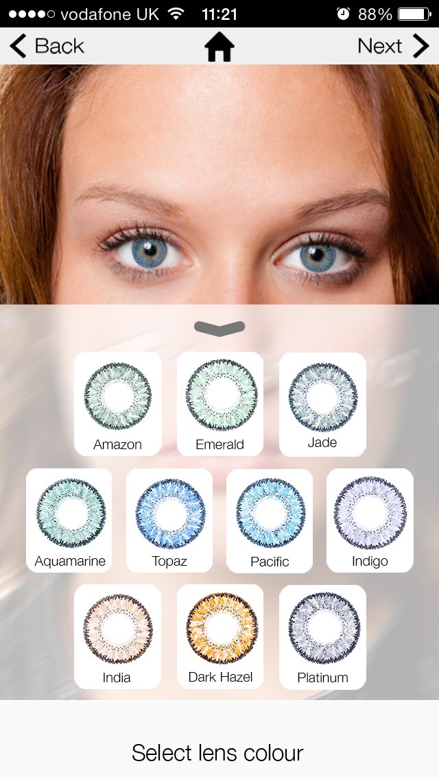Eye Colours Screenshot on iOS