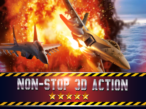 Fighter jet 3D Tactical attack : Chaos Dog-fights over the sea coast line screenshot