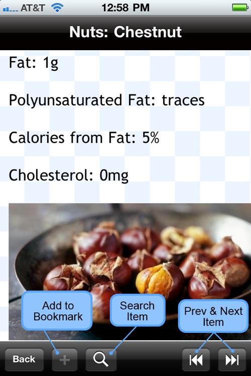 Food Calorie List screenshot-3