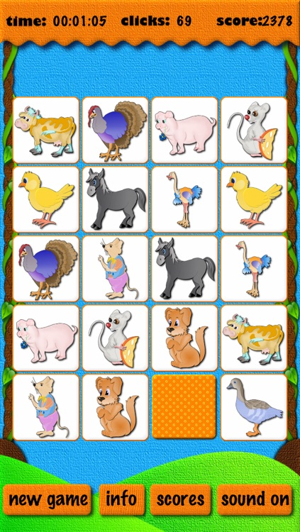 Animal Match - free educational learning card matching games for kids and parents screenshot-3
