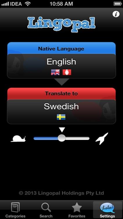 Lingopal Swedish LITE - talking phrasebook