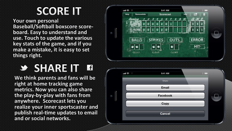 Scorecast - Baseball/Softball Scoreboard