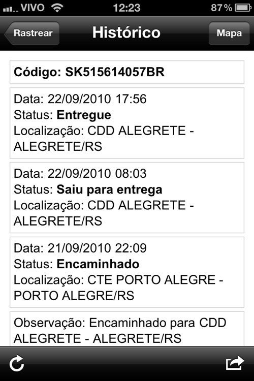 Entregas screenshot-3