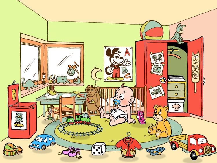 Pedro limpia la casa - un juego para niño pequeňos - español