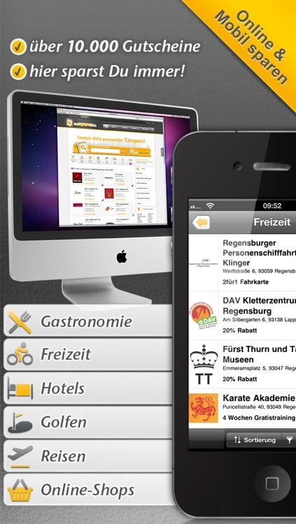 Gutscheine undSPAREN.de - Coupons mit Deinem iPhone einlösen screenshot-4