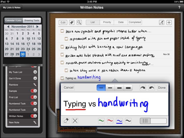 Manage Free: Best handwriting task manager