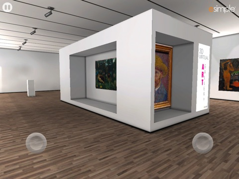 3D Virtual Art Gallery Screenshot