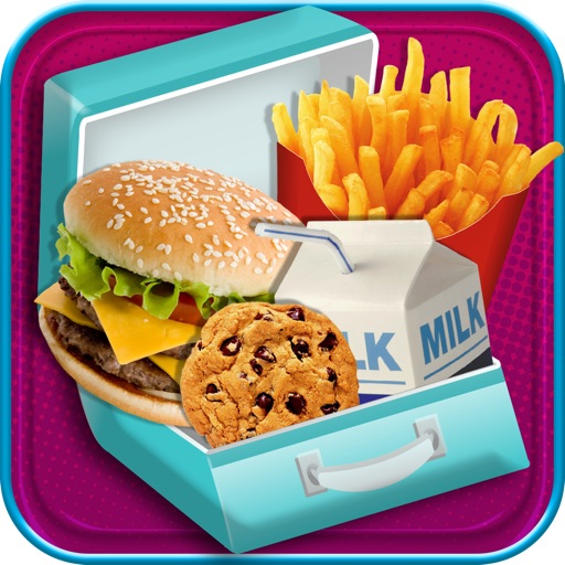 Kids School Lunch - Fun Virtual Food Maker