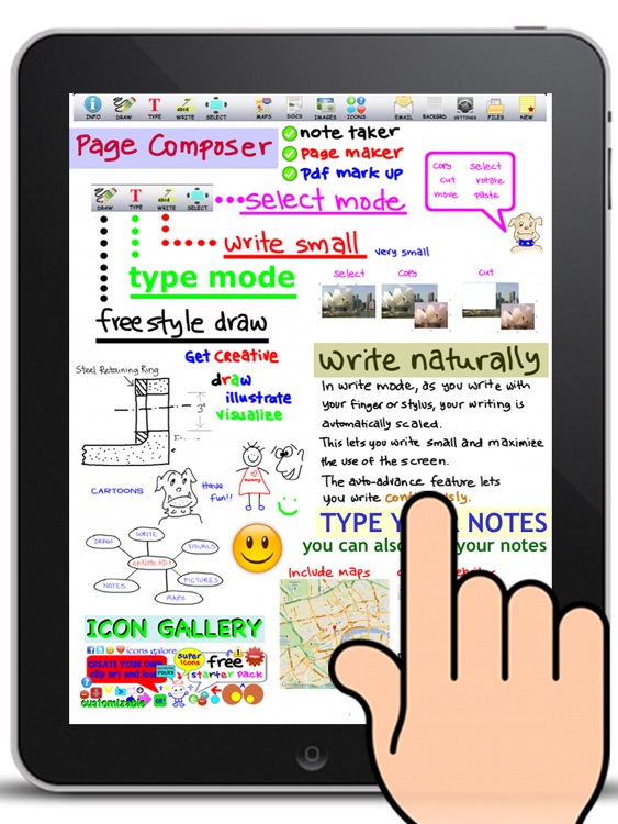 Page Composer & Note Taker for the iPad
