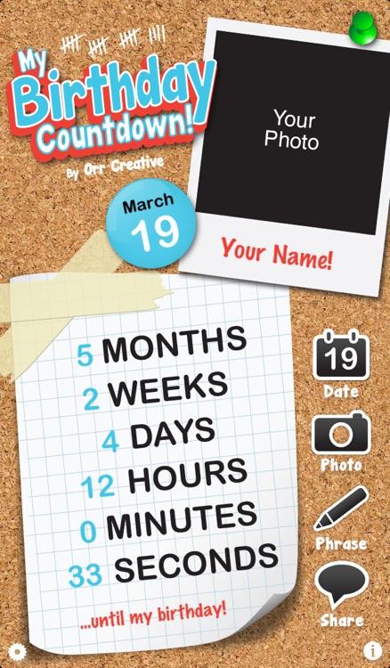 My Birthday Countdown!