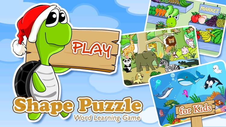Shape Puzzle - Word Learning Game for Kids