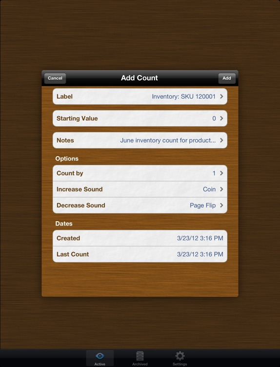 Counts Free for iPad: Count Anything