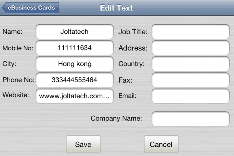 e-Business Cards Maker-Full screenshot-3