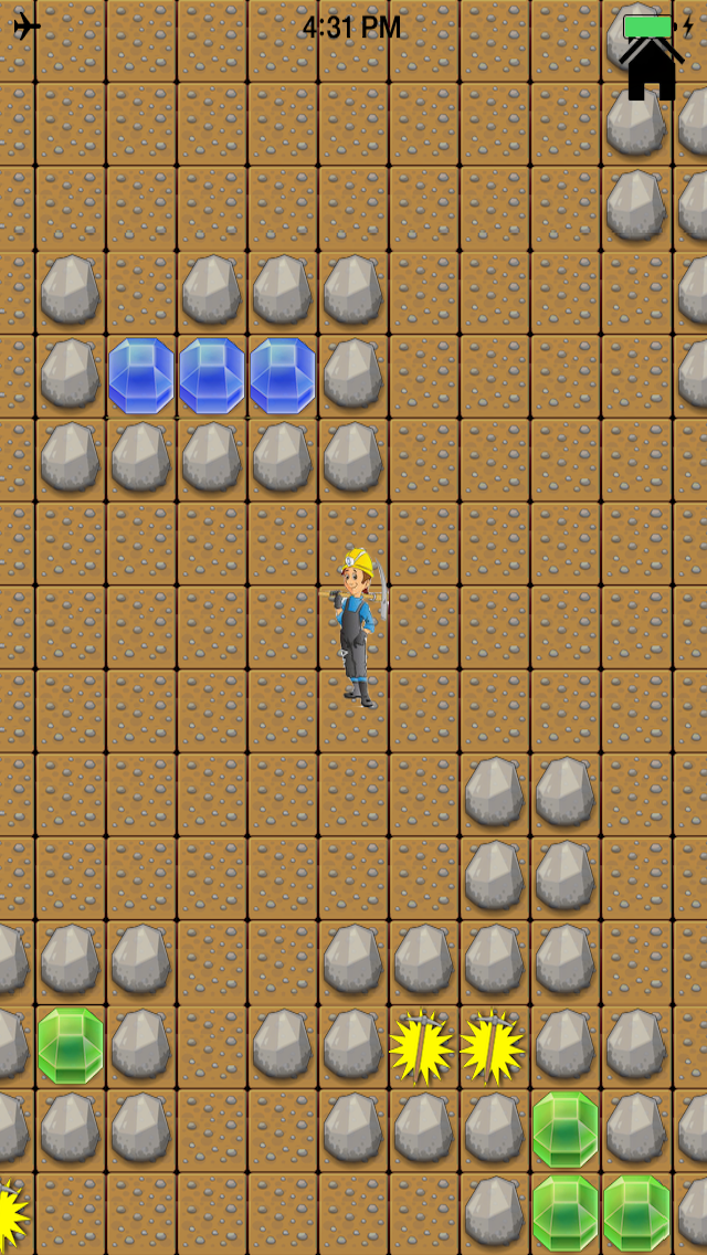 A Gem Miner Search & Find Treasure: Dig Deep In Stone Ground Free Screenshot on iOS
