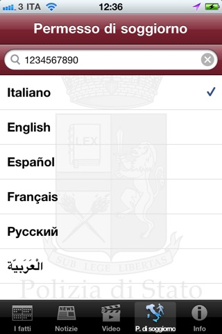 Screenshot for Polizia di Stato.it in Netherlands App Store