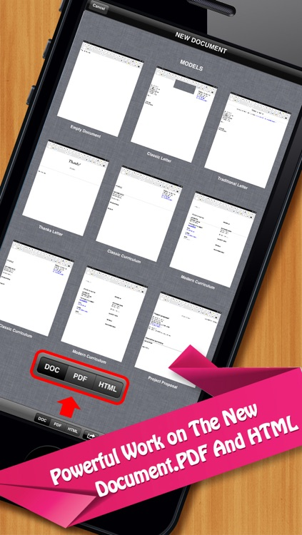 Documents On The Go - full docs for Microsoft Office Word & Quickoffice Quickword edition screenshot-3