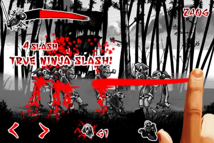 Draw Slasher: Dark Ninja vs Pirate Monkey Zombies screenshot-3