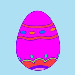 Kids Finger Painting - Easter Egg