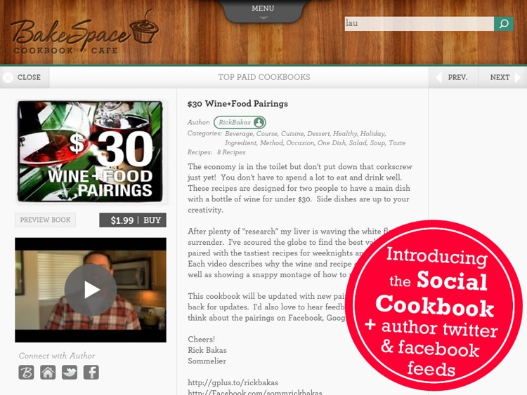 Cookbook Cafe: The grassroots way to shop for cookbooks -- by BakeSpace.com