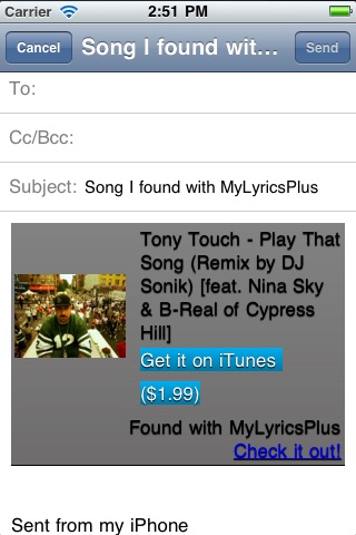 MyLyrics Plus - The app to find a song from the lyrics screenshot-4