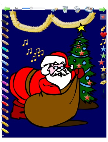 Christmas Colorings For Kids With Colored Pencils 36 Drawings To
