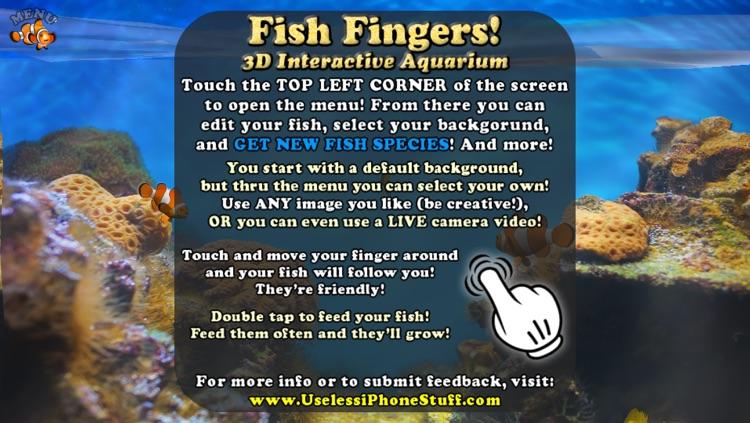 Fish Fingers! 3D Interactive Aquarium FREE screenshot-3