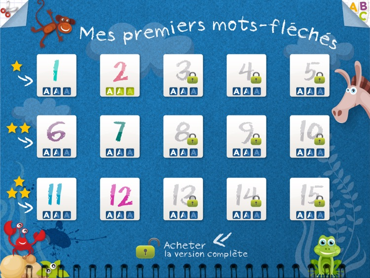 Kidschool : my first criss-cross puzzle in french LITE screenshot-3