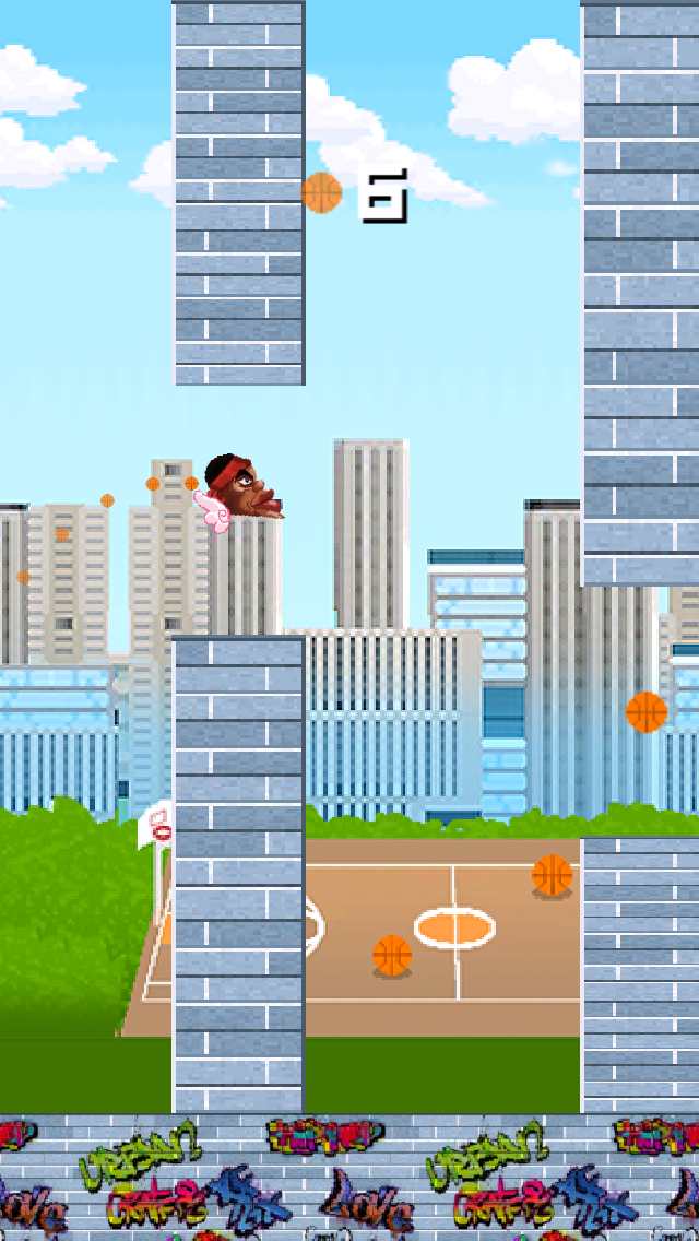 Floppy King James in: Basket-ball Chase and Impossible Hoop Bouncingのおすすめ画像1