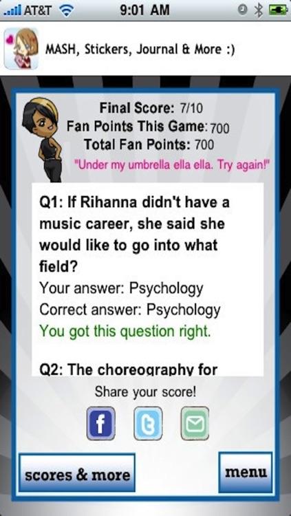Rihanna Quizzle™ screenshot-4
