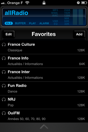 allRadio Screenshot