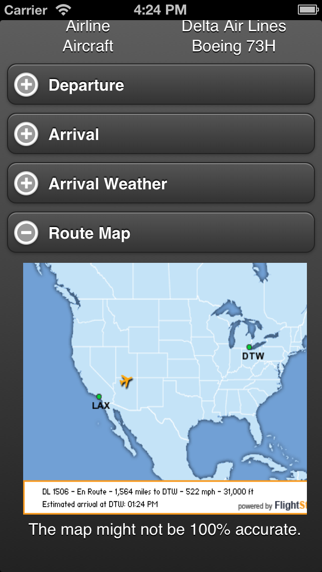 Flight Tracker Free Screenshot
